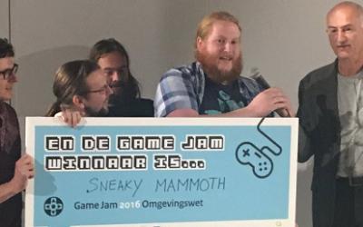 Sneaky Mammoth wint de Omgevingswet Game Jam