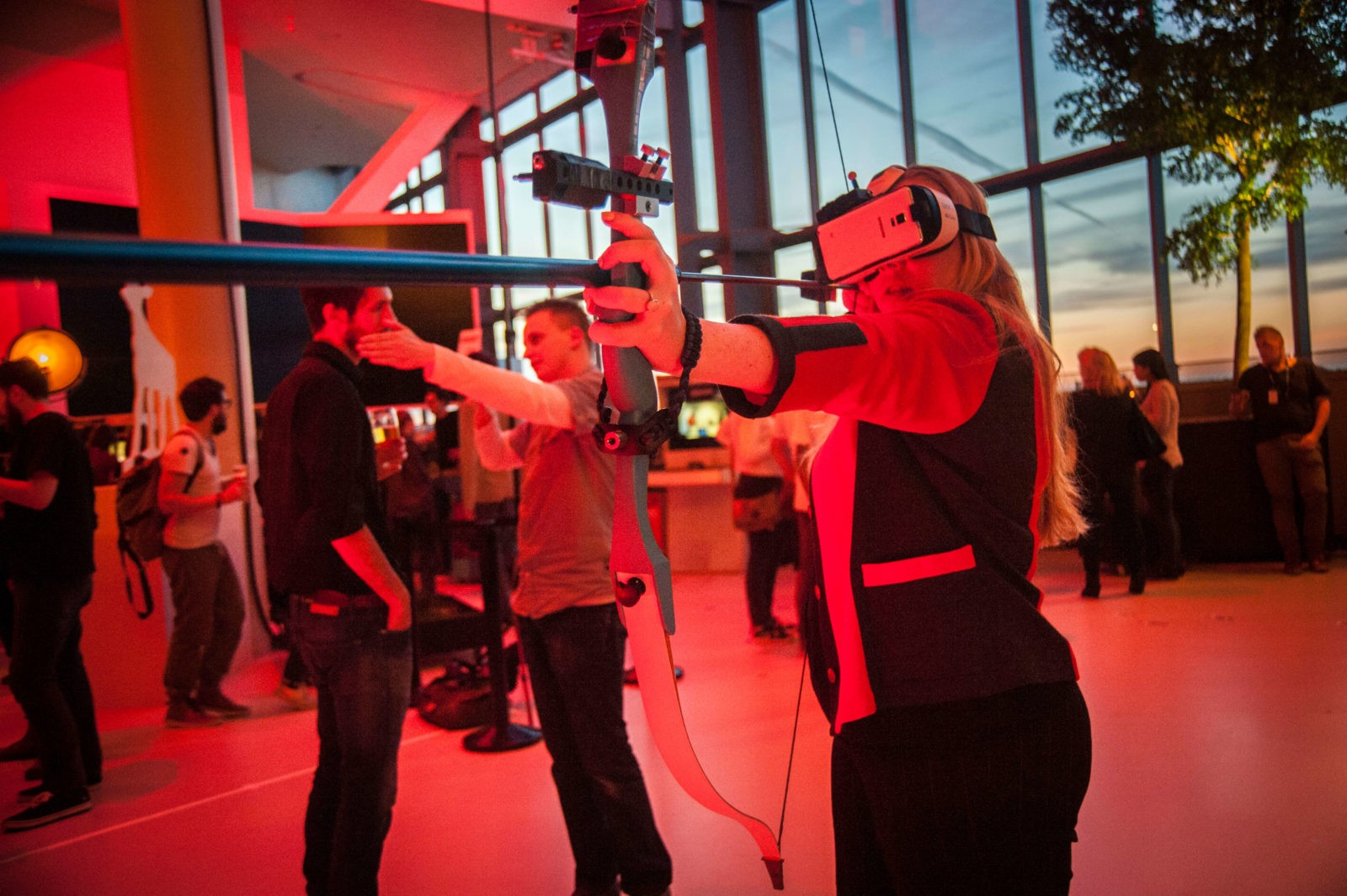Playing VR games at INDIGO 2015